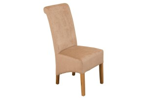 Front of Montana Dining Chair [Beige Fabric]