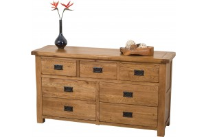 Cotswold Rustic Solid Oak Chest of Drawers [3+4 drawer]