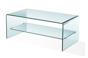 Luna Glass Coffee Table [Clear Glass]
