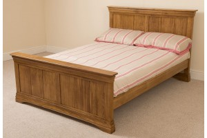 French Rusitc Oak 5ft Kingsize Bed Frame and Mattress Set