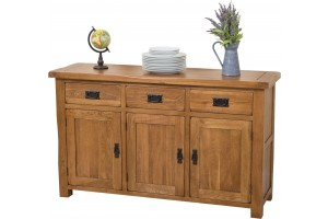 Cotswold Rustic Solid Oak Large Sideboard