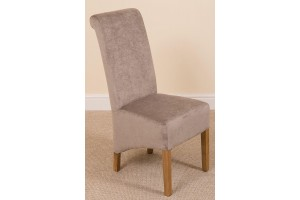 Left Side of Montana Dining Chair [Grey Fabric]