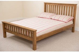 Cotswold Rustic Oak 4ft6 Double Bed Frame