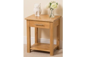 Oslo Solid Oak Lamp Table