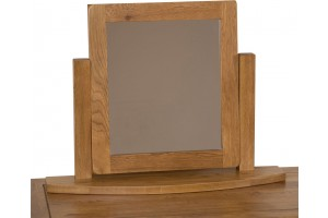 Cotswold Rustic Solid Oak Swivel Mirror