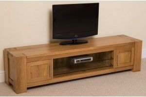 Kuba Solid Oak Widescreen TV Cabinet