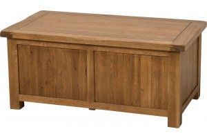 Cotswold Rustic Solid Oak Blanket Box