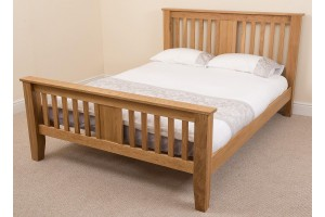 Boston Solid Oak 5ft Kingsize Bed Frame