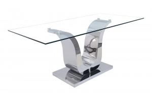 Alexandria Glass and Chrome 180 cm Dining Table