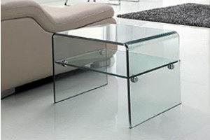 Luna Glass Side Table [Clear Glass]