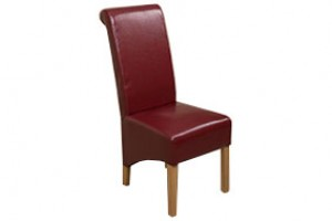 Montana Dining Chair [Burgundy Leather]
