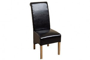Montana Dining Chair [Black Leather]