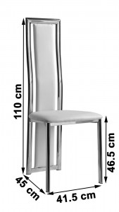 Elsa Designer Dining Chairs [Ivory] Dimensions