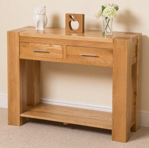 Kuba Solid Oak Console Table