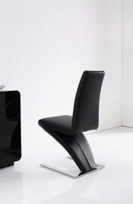 Back of Zed Designer Dining Chairs [Black]