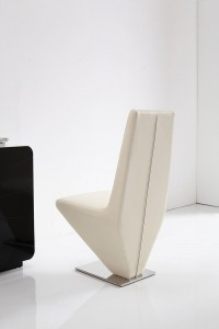 Back of Rita Designer Dining Chairs [Ivory]