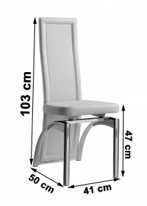 Alisa Dining Chair [Ivory] Dimensions