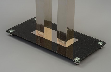 Roma Black Glass Dining Table Legs