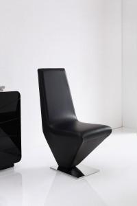Front of Rita Designer Dining Chairs [Black]