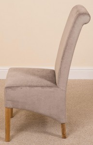 Side Angle of Montana Dining Chair [Grey Fabric]