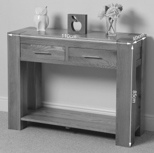 Kuba Solid Oak Console Table Dimensions