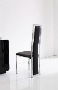 Back of Elsa Designer Dining Chairs [Black]