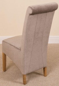 Back of Montana Dining Chair [Grey Fabric]