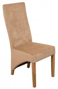Lola Curved Back Dining Chair [Beige Fabric]