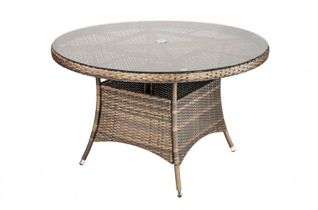 Savannah Rattan Garden Furniture [4 Seat Dining Set Table Only]