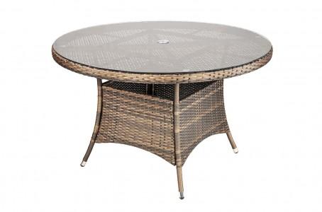 Savannah Rattan Garden Furniture [4 Seat Dining Set Table Only]