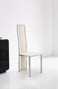 Front of Elsa Designer Dining Chairs [Ivory]