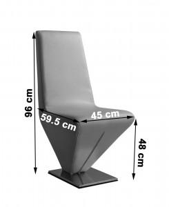 Rita Designer Dining Chairs [Black] Dimensions