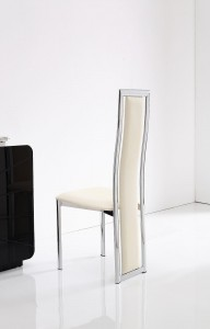 Back of Elsa Designer Dining Chairs [Ivory]