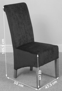 Montana Dining Chair [Grey Fabric] Dimensions