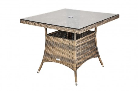 Arizona Rattan 4 Seat Dining Set [Square Table Only]