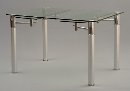 Verona Extending Glass Dining Table - Not extended Side