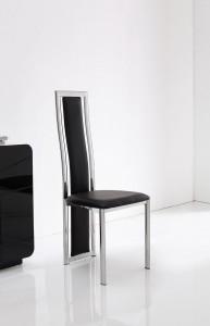 Front of Elsa Designer Dining Chairs [Black]