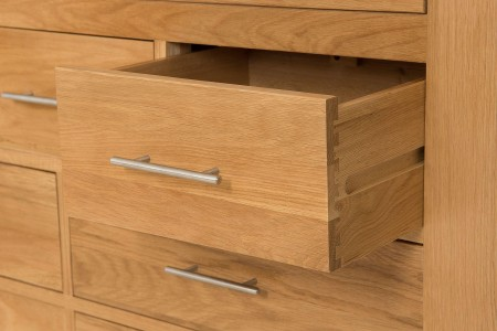 Kuba Solid Oak Chest of Drawers - Drawer Open