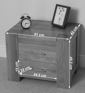 kuba solid oak bedside table dimensions - Bedroom Furniture