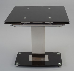 Enzo 80-120cm Extending Glass Dining Table - Side Picture