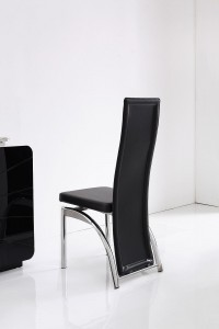 Back of Alisa Dining Chair [Black]