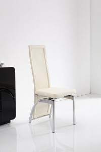 Front of Alisa Dining Chair [Ivory]