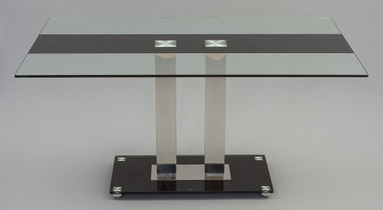 Roma Black Glass Dining Table Only