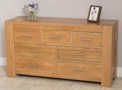 Kuba Solid Oak Chest of Drawers