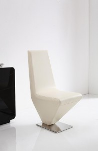 Front of Rita Designer Dining Chairs [Ivory]