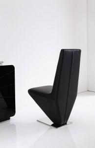Back of Rita Designer Dining Chairs [Black]