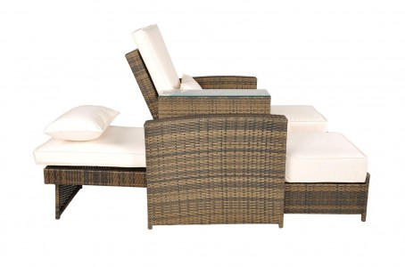 Side of Nevada Rattan Garden Furniture [2 Seat Lounger Set]