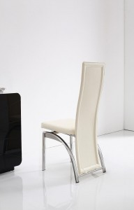 Back of Alisa Dining Chair [Ivory]