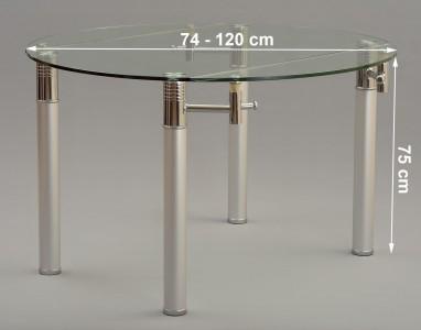 Torino Designer 74cm-120cm Extending Dining Table Dimensions
