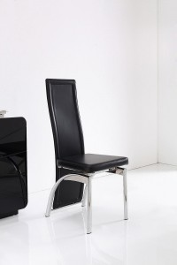Front of Alisa Dining Chair [Black]